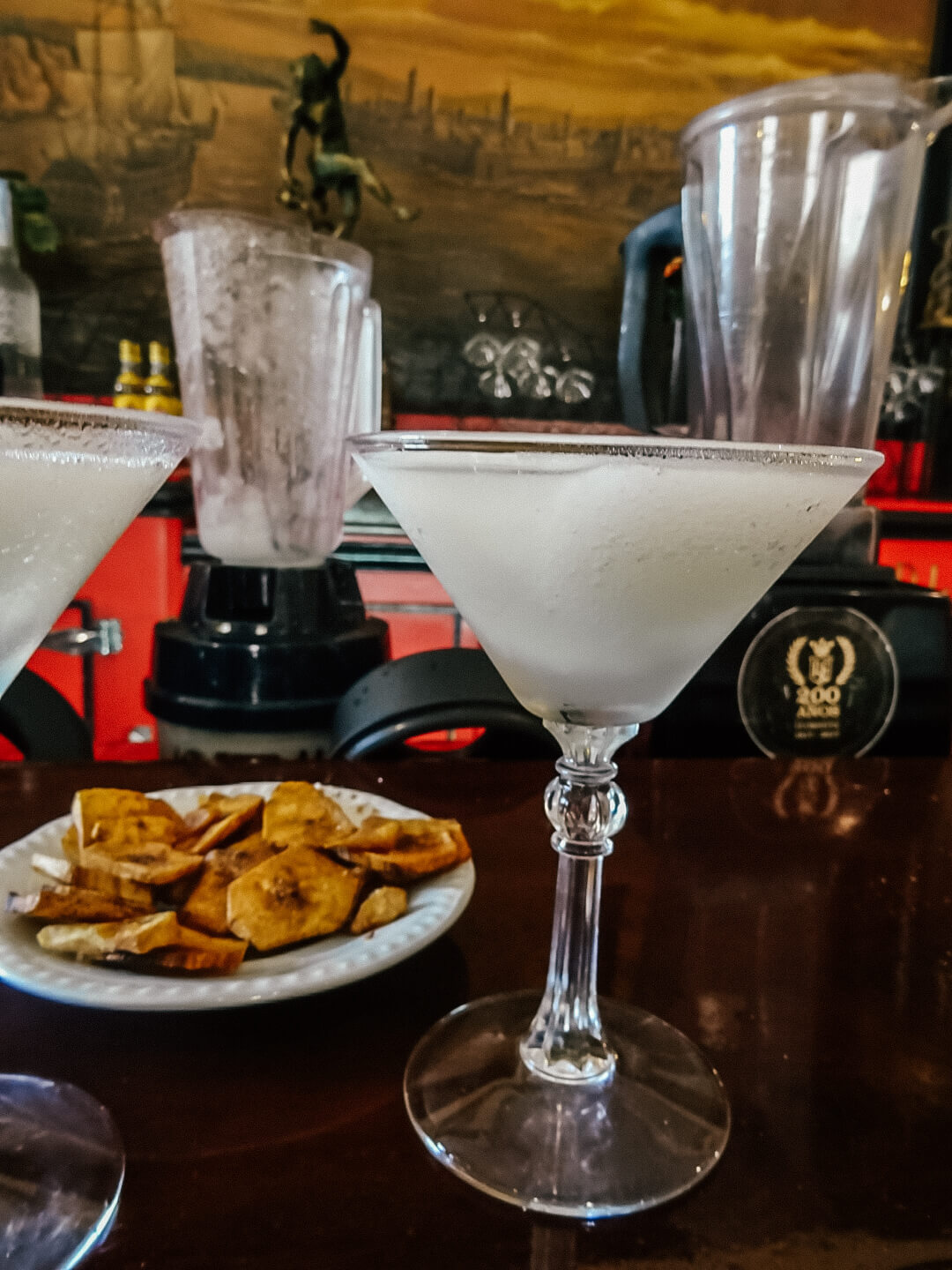 Daiquiri & Plantains in El floridita